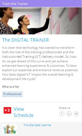 BILT > Blended Instructor Led Training for corporate learner